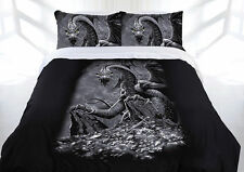 Stunning Green Eyed Dragon Quilt Doona Cover Set - SINGLE DOUBLE QUEEN KING