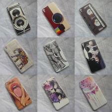 Cool Cat Elephant Retro Camera Pattern Back Case For Alcatel One Touch Idol3 5.5