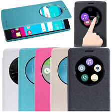 Nillkin PU Leather Quick Circle View Smart Cover Flip Case For LG G4 Wake Sleep