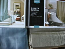 Sheer Overlay Shower Curtain Blue/Brown or Gold/Brown Home/Threshold NEW