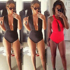 Sexy Women Plunge Deep Vneck Twisted Backless Club Top Tank Vest Blouse Bodysuit
