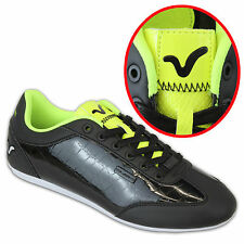 Voi Jeans Mens Trainers, Mens Voi Winchester Sports Shoes Fluro Black - GENUINE