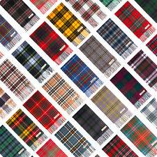 100% Pure Wool Made in Scotland Tartan Scarf Collection