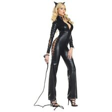 Cat Woman Costume Adult Sexy Black Kitty Halloween Fancy Dress