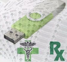 USB FLASH DRIVE GREEN CROSS MEDICAL RX CANNABIS LABELS 420 DOWNLOAD PRINT USA FS