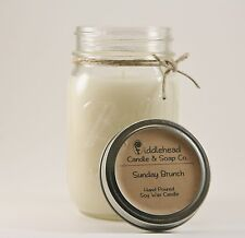 All Natural Soy Candle 16 oz Mason Jar Hand Poured Dye Free! Choose your scent!