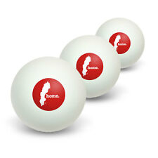 Sweden Home Country Table Tennis Ping Pong Ball 3 Pack