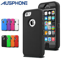 Heavy Duty Tradesman Silicone Tough Hard Case Cover For Apple iPhone 6S 5S 5C SE