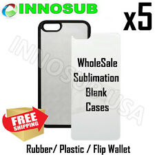 5 x Blank Dye INNOSUB Cases Sublimation For iPhone 5/6 Galaxy S5 S6-HTC-Rubber