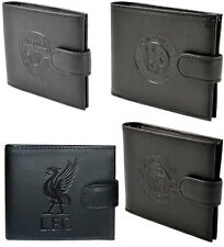 Premier League Football Embossed Club Logo Leather Wallet New & Official In Box