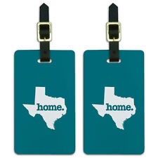 Texas TX Home State Luggage Suitcase ID Tags Set of 2