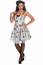 Hell Bunny Gothic White Black Rockabilly 50's Spider Tulle Mary Jane Mini Dress