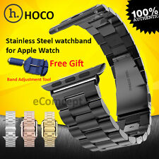 HOCO Stainless Steel Strap Buckle Watch Band + Adapter for Apple Watch 42mm 38mm