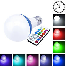 10W 800LM E27 RGB LED Light Bulb 12 Color Dimmable Lamp Remote Control 85-265V