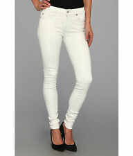 NWT Seven 7 For All Mankind The Skinny in White Clear Snake 26 27 28 29 30 $259