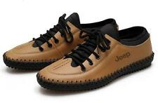 Fashion mens casual dress flat lace up leather moccasins driving shoes sneaker