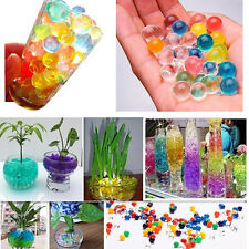 5 10 50 Bag Pearl Shaped Crystal Soil Water Beads Mud Grow Magic Balls Wedding