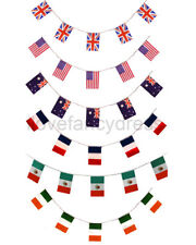 HUGE COUNTRY FLAG BUNTING ALL WEATHER PVC PARTY DECORATION NATIONAL FLAGS BANNER