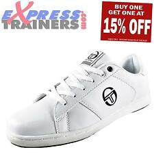 Sergio Tacchini Mens Tabata Casual Classic Designer Trainers White *AUTHENTIC*