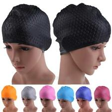 Durable Adult Waterproof Swimming Cap Fashion Waterproof Silicon Hat Ear Cover