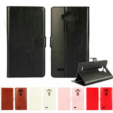 Luxury Flip Leather Wallet Card Holder Case Magnetic Stand Cover For LG Smart