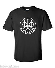 BERETTA FIREARMS - BLACK T-SHIRT NEW ALL SIZES AVAILABLE-SMALL through 6XL