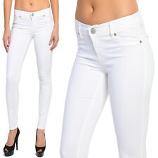 TheMogan Colored Ankle Stretch Skinny Jeans Pencil Pants in White