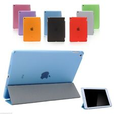 Smart 3 FOLD HARD BACK Cover Case APPLE iPad 2 3 4 5 6 Air Mini PRO TRANSLUCENT