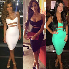 Sexy Women Ladies Bandage Bodycon Clubwear Evening Party Cocktail Short Dress