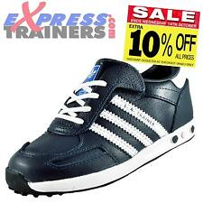 Adidas Originals Infants Toddlers Leather LA Trainers Velcro Navy *AUTHENTIC*