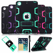 Heavy Duty Hybrid Shockproof Hard Case Cover Stand For iPad 2/3/4 Mini For Air 2