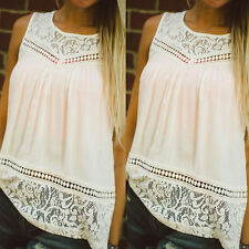 Fashion Women Summer Vest Top Sleeveless Chiffon Blouse Casual Tank Tops T-Shirt