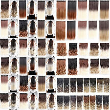 3/4 Full Head dip dye ombre clip in hair extensions for human hair extension New