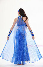 Belly Dance Costume 360° Isis Wings Rose Pattern Translucent isis wings 9 colors