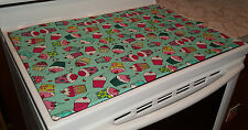 Teal Cupcake Themed Glass Stove top / Cook top Cover & Protector