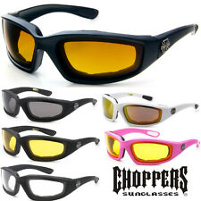 Choppers Wind Resistant Sunglasses Riding Biker Extreme Sports Motorcycle Padded