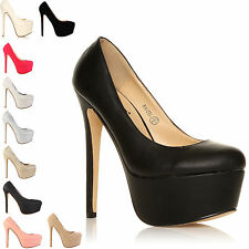 NEW WOMENS LADIES FASHION HIGH HEELS PARTY PLATFORM SHOES SIZE 3-8