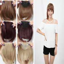 Real Thick Fringe Bangs Clip In On Hair Extensions Straight Bang Hair Extension