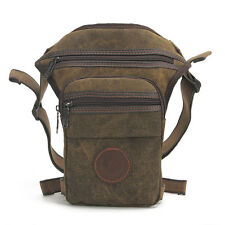 Men Waist Leg Drop Bag Canvas Travel Cycling Messenger Shoulder Belt Fanny Pack