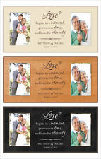 Customized Wedding Gift for Parents, 4 x 6 Picture Frame, Personalized for free