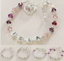 Personalised Bracelets for Girls, Any Name, Gift Box & Card for Daughter etc