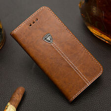 Luxury Magnetic Flip Cover Stand Wallet PU Leather Case For Samsung Galaxy Model