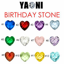 CHARMS Living Memory Locket Necklace Pendant Floating Birthday stone Charm