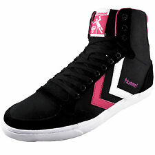 Hummel Womens Girls Slimmer Stadil High Top Classic Retro Trainers AUTHENTIC