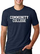 Community College T Shirt Funny Joke Parody Tee With Classic Block style Text