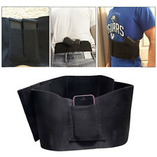 Concealed Carry Black Belly Band Gun Pistol Holster+2 Mag Pouches+1 Pistol Pouch