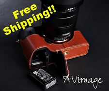 [TP] EZ Access Camera Half Case for SONY A7II A7r II A7 MK2  Genuine Cow Leather