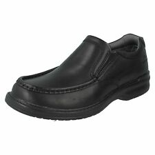 MENS CLARKS LEATHER SLIP ON WIDE FITTING CASUAL FORMAL OFFICE SHOES KEELER STEP