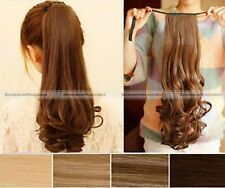 Clip In Ponytail Hair Extension Ponytail Hair Piece Straight Curly Wavy Popular