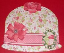 Handmade Greeting Card & Matching Envelope 3D All Occasion With A Cloche Hat